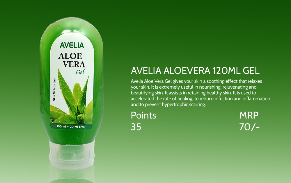 Avelia Aloevera Gel 120gm