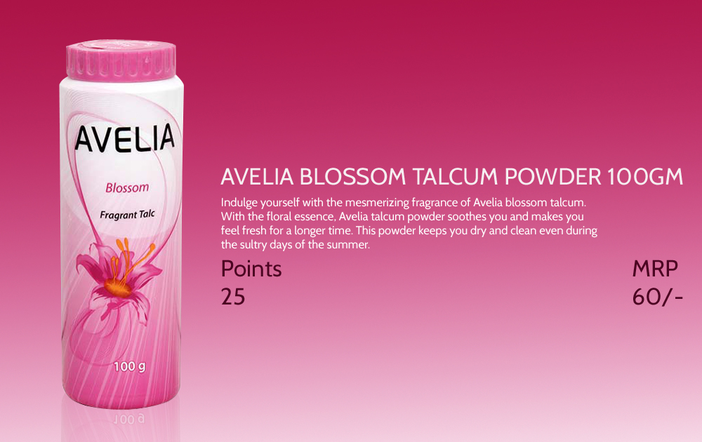 Avelia Blossom Talcum Powder 100gm