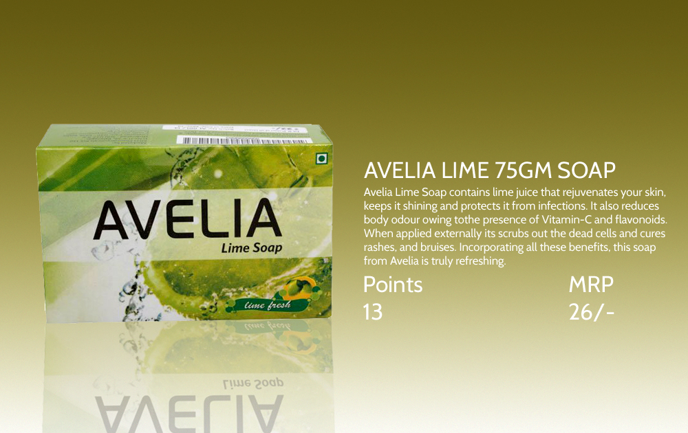 Avelia Lime Soap 75gms