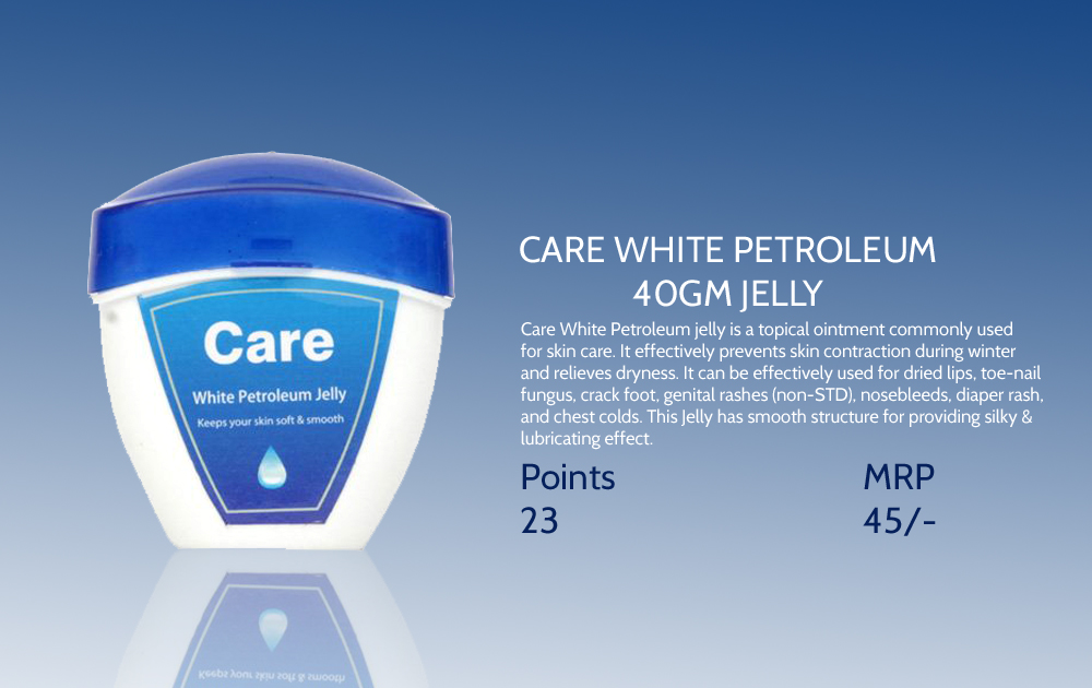 Care White Petroleum Jelly 40gms