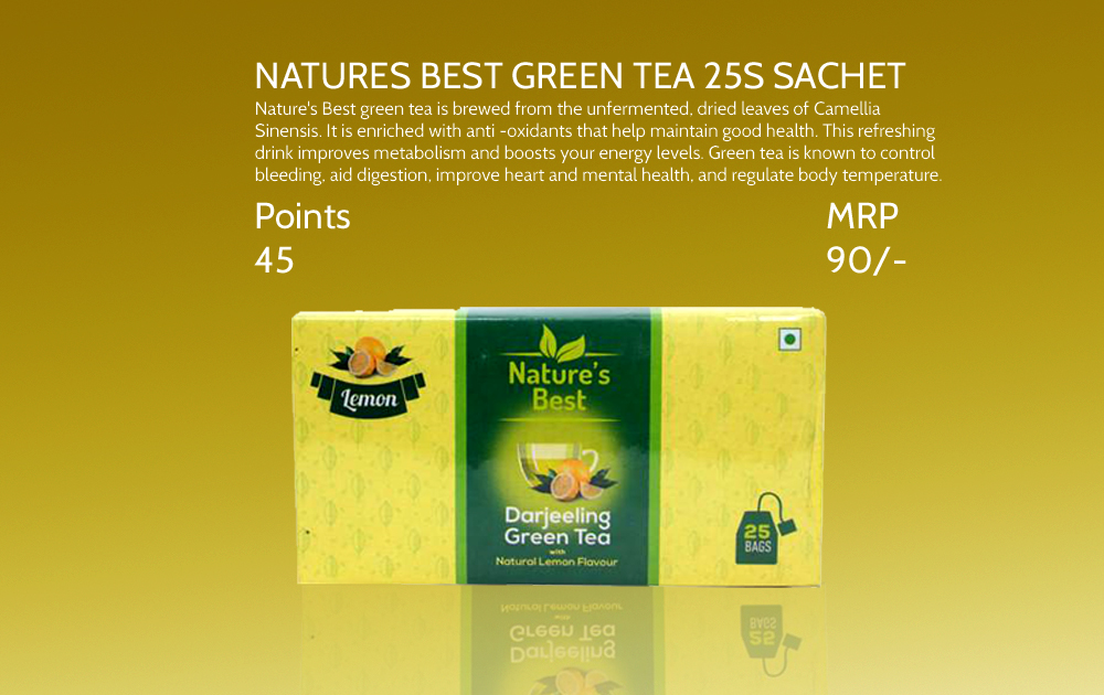 Natures Best Green Tea 25s Sachet