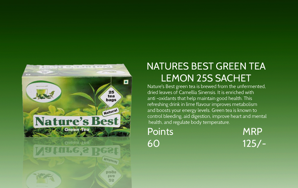 Natures Best Green Tea Lemon 25s Sachet