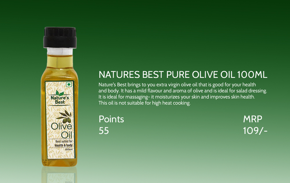 Natures Best Pure Olive Oil 100ml