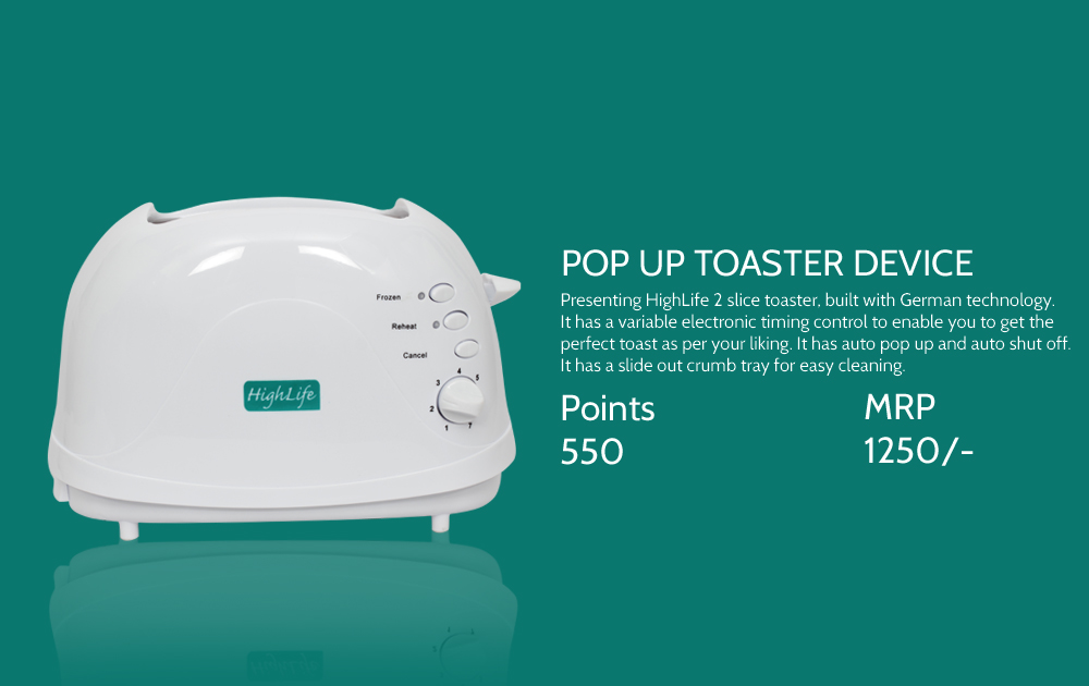 Pop Up Toaster Device