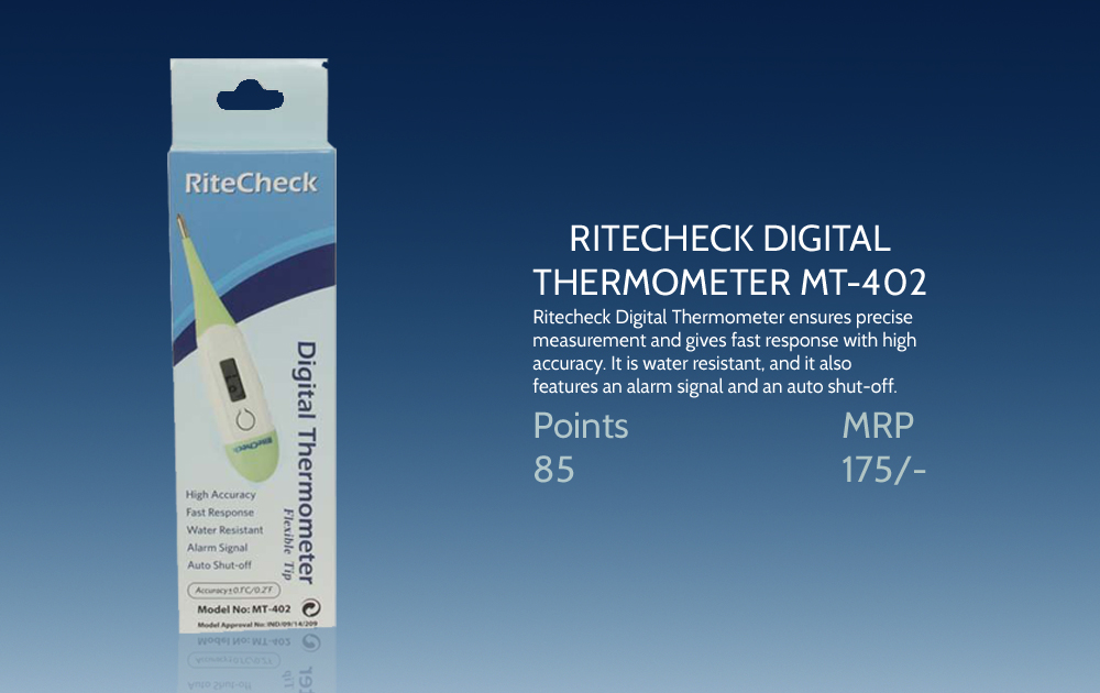 Ritecheck Digital Thermometer Mt 402